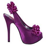Violeta Satinado 14,5 cm Burlesque TEEZE-56 Zapatos de Tacón Alto