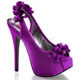 Violeta Satinado 14,5 cm TEEZE-56 Zapatos de Tacón Alto