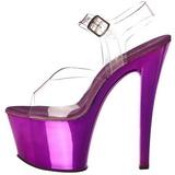 Violeta Transparente 18 cm SKY-308 Plataforma Tacones de Aguja