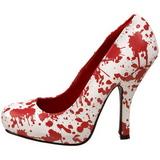 White 13 cm BLOODY-12 Zapatos de tacón altos mujer