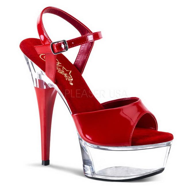 CAPTIVA-609 sandalias de plataforma rojo talla 41 - 42