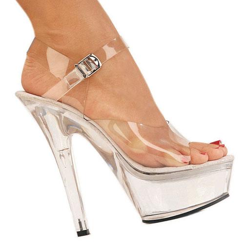 KISS-208 sandalias de plataforma transparente talla 39 - 40
