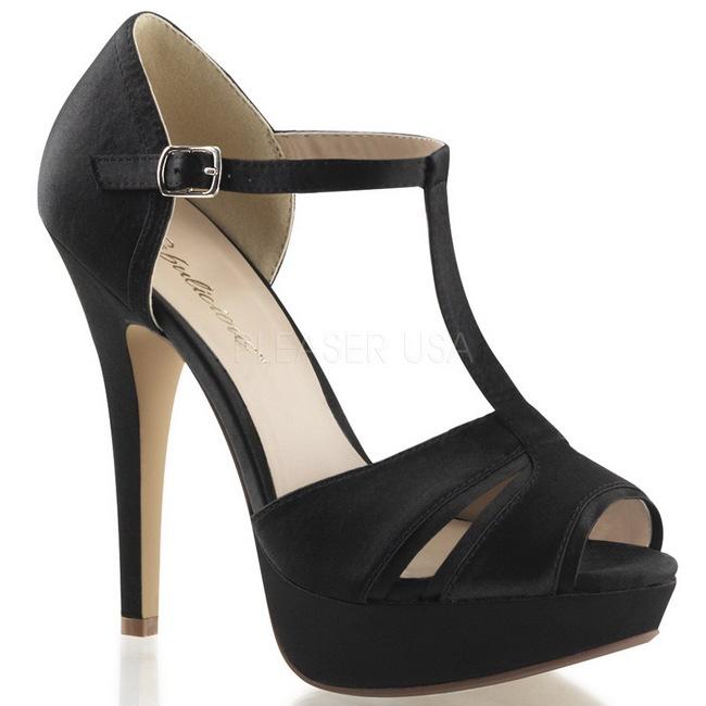 LOLITA-20 sandalias tacón alto negro talla 35 - 36