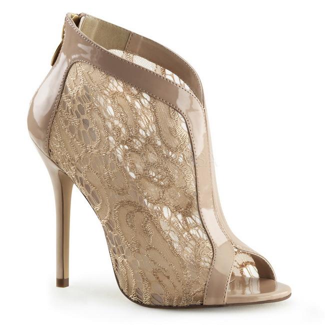 AMUSE-20 zapatos de salón plata talla 37 - 38