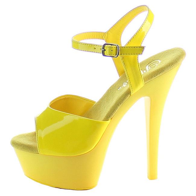 KISS-209UV zapatos de plataforma amarillo talla 35 - 36